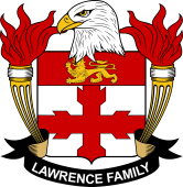 American Coat of Arms for Lawrence