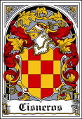 Spanish Coat of Arms Bookplate for Cisneros