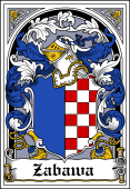 Polish Coat of Arms Bookplate for Zabawa
