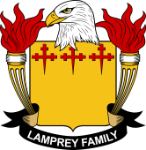 American Coat of Arms for Lamprey