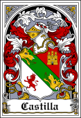 Spanish Coat of Arms Bookplate for Castilla