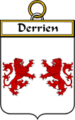 French Coat of Arms Badge for Derrien