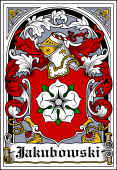 Polish Coat of Arms Bookplate for Jakubowski
