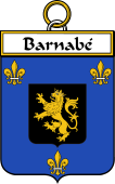 French Coat of Arms Badge for Barnabé