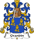 Coat of Arms from France for Grandin or Grondin