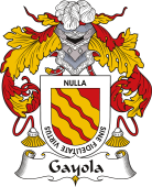 Spanish Coat of Arms for Gayola