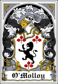 Irish Coat of Arms Bookplate for O'Molloy