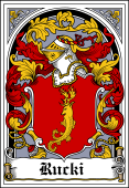 Polish Coat of Arms Bookplate for Rucki