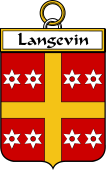 French Coat of Arms Badge for Langevin