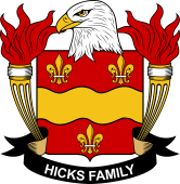 American Coat of Arms for Hicks