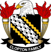 American Coat of Arms for Clopton