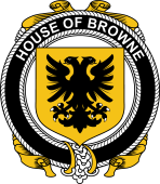 Irish Coat of Arms Badge for the BROWNE family