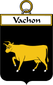 French Coat of Arms Badge for Vachon