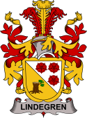 Swedish Coat of Arms for Lindegren