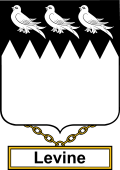 English Coat of Arms Shield Badge for Levine or Levins