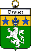 French Coat of Arms Badge for Drouet