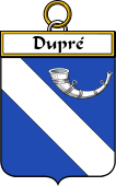 French Coat of Arms Badge for Dupré