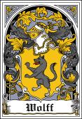 German Wappen Coat of Arms Bookplate for Wolff