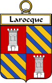 French Coat of Arms Badge for Larocque