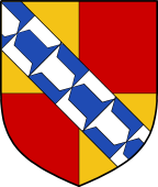 English Family Shield for Dorset (Sackvile)