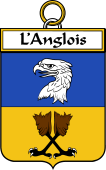 French Coat of Arms Badge for L'Anglois