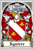 Spanish Coat of Arms Bookplate for Aguirre