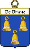 French Coat of Arms Badge for de Brune