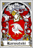 Polish Coat of Arms Bookplate for Karwatski