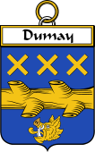 French Coat of Arms Badge for Dumay