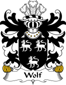 Welsh Coat of Arms for Wolf (of Wolvesnewton and Usk, Monmouthshire)