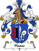 German Wappen Coat of Arms for Hasse