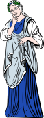 Gods and Goddesses Clipart image: Polihymnia Muse