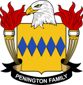 American Coat of Arms for Penington