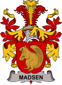 Danish Coat of Arms for Madsen