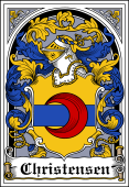 Danish Coat of Arms Bookplate for Christensen