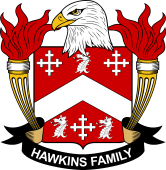 American Coat of Arms for Hawkins