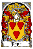 Danish Coat of Arms Bookplate for Pape