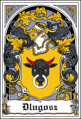 Polish Coat of Arms Bookplate for Dlugosz