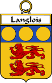 French Coat of Arms Badge for Langlois