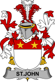 Irish Coat of Arms for St.John
