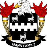 American Coat of Arms for Mann