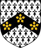 English Family Shield for Hadfield or Hatfield