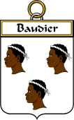French Coat of Arms Badge for Baudier