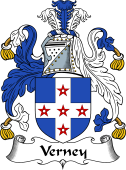 English Coat of Arms for Verney