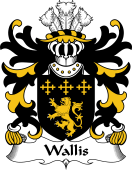 Welsh Coat of Arms for Wallis (or Welsh, of Llan-wern, Monmouthshire)
