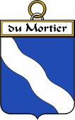 French Coat of Arms Badge for du Mortier