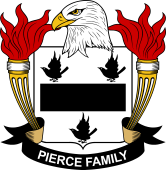 American Coat of Arms for Pierce