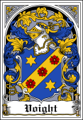 German Wappen Coat of Arms Bookplate for Voight