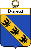 French Coat of Arms Badge for Duprat