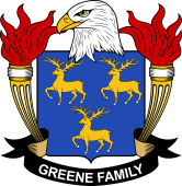 American Coat of Arms for Greene